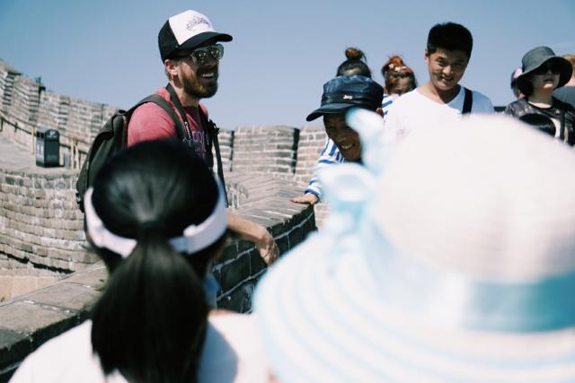 Tourist crowd